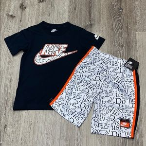 Nike Boys 2pc set top shorts Just Do It